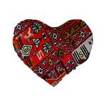 Carpet Orient Pattern Standard 16  Premium Heart Shape Cushions