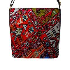 Carpet Orient Pattern Flap Messenger Bag (l)  by BangZart