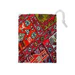 Carpet Orient Pattern Drawstring Pouches (Medium)