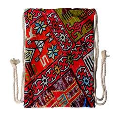 Carpet Orient Pattern Drawstring Bag (large) by BangZart