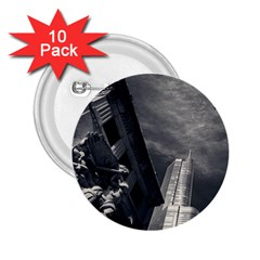 Chicago Skyline Tall Buildings 2 25  Buttons (10 Pack)