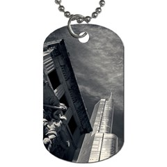 Chicago Skyline Tall Buildings Dog Tag (one Side) by BangZart