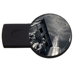 Chicago Skyline Tall Buildings Usb Flash Drive Round (2 Gb) by BangZart