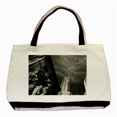 Chicago Skyline Tall Buildings Basic Tote Bag (two Sides) by BangZart