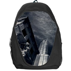 Chicago Skyline Tall Buildings Backpack Bag by BangZart