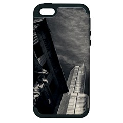Chicago Skyline Tall Buildings Apple Iphone 5 Hardshell Case (pc+silicone) by BangZart