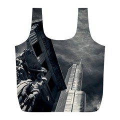 Chicago Skyline Tall Buildings Full Print Recycle Bags (l)  by BangZart