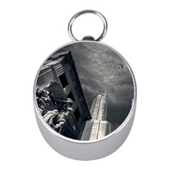 Chicago Skyline Tall Buildings Mini Silver Compasses