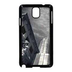 Chicago Skyline Tall Buildings Samsung Galaxy Note 3 Neo Hardshell Case (black) by BangZart