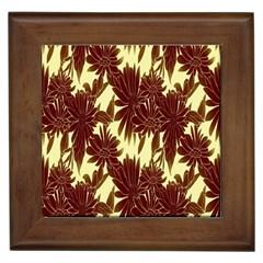 Floral Pattern Background Framed Tiles by BangZart