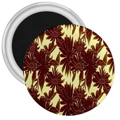 Floral Pattern Background 3  Magnets