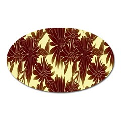 Floral Pattern Background Oval Magnet by BangZart