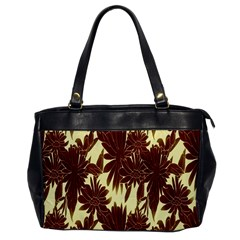 Floral Pattern Background Office Handbags by BangZart