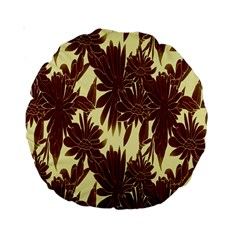 Floral Pattern Background Standard 15  Premium Round Cushions
