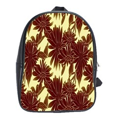 Floral Pattern Background School Bag (xl) by BangZart