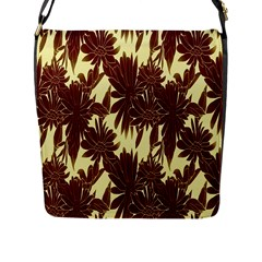 Floral Pattern Background Flap Messenger Bag (l)  by BangZart
