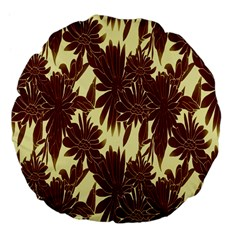 Floral Pattern Background Large 18  Premium Flano Round Cushions by BangZart