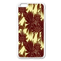 Floral Pattern Background Apple Iphone 6 Plus/6s Plus Enamel White Case by BangZart