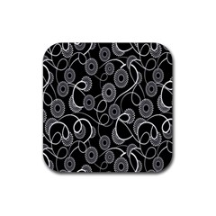 Floral Pattern Background Rubber Coaster (square)  by BangZart