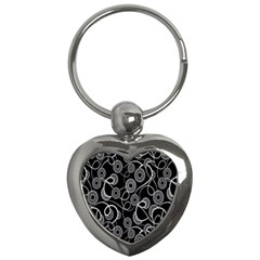 Floral Pattern Background Key Chains (heart)  by BangZart