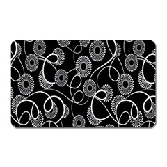 Floral Pattern Background Magnet (rectangular) by BangZart