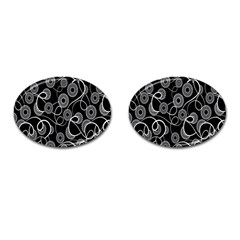 Floral Pattern Background Cufflinks (oval) by BangZart