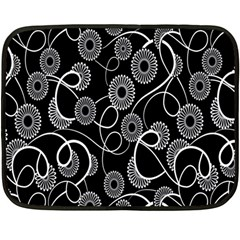 Floral Pattern Background Double Sided Fleece Blanket (mini)