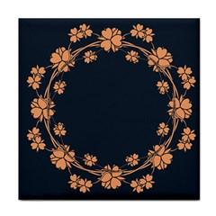 Floral Vintage Royal Frame Pattern Tile Coasters