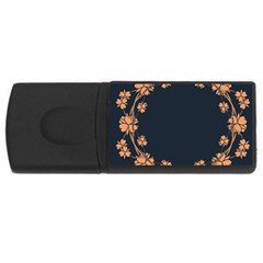 Floral Vintage Royal Frame Pattern Rectangular Usb Flash Drive by BangZart