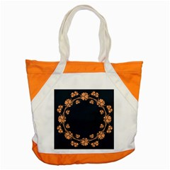 Floral Vintage Royal Frame Pattern Accent Tote Bag by BangZart