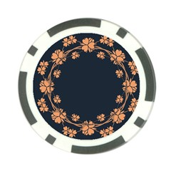 Floral Vintage Royal Frame Pattern Poker Chip Card Guard by BangZart