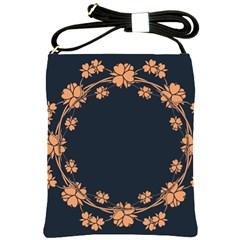Floral Vintage Royal Frame Pattern Shoulder Sling Bags by BangZart
