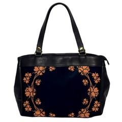 Floral Vintage Royal Frame Pattern Office Handbags by BangZart