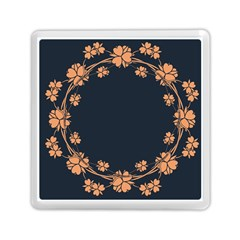 Floral Vintage Royal Frame Pattern Memory Card Reader (square)  by BangZart