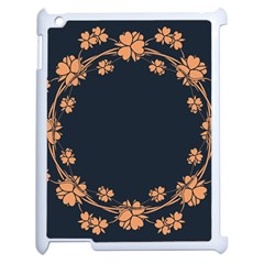 Floral Vintage Royal Frame Pattern Apple Ipad 2 Case (white) by BangZart