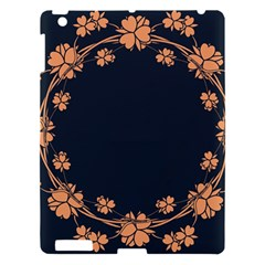 Floral Vintage Royal Frame Pattern Apple Ipad 3/4 Hardshell Case by BangZart