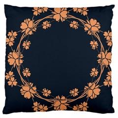 Floral Vintage Royal Frame Pattern Large Cushion Case (two Sides) by BangZart