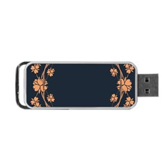 Floral Vintage Royal Frame Pattern Portable Usb Flash (one Side) by BangZart