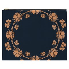 Floral Vintage Royal Frame Pattern Cosmetic Bag (xxxl)