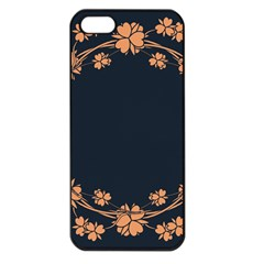 Floral Vintage Royal Frame Pattern Apple Iphone 5 Seamless Case (black)