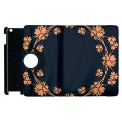 Floral Vintage Royal Frame Pattern Apple Ipad 3/4 Flip 360 Case