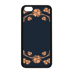 Floral Vintage Royal Frame Pattern Apple Iphone 5c Seamless Case (black) by BangZart