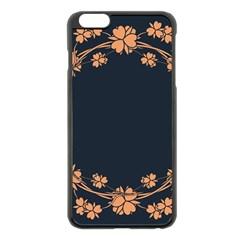 Floral Vintage Royal Frame Pattern Apple Iphone 6 Plus/6s Plus Black Enamel Case by BangZart