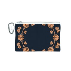 Floral Vintage Royal Frame Pattern Canvas Cosmetic Bag (s) by BangZart