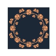 Floral Vintage Royal Frame Pattern Small Satin Scarf (square)