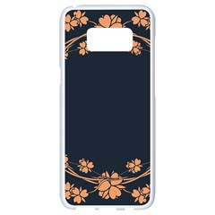 Floral Vintage Royal Frame Pattern Samsung Galaxy S8 White Seamless Case