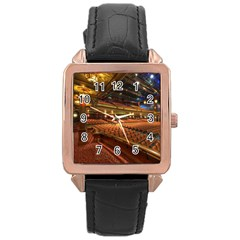 Florida State University Rose Gold Leather Watch