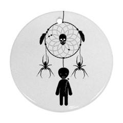 Voodoo Dream Catcher  Ornament (round) by Valentinaart