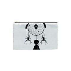 Voodoo Dream Catcher  Cosmetic Bag (small)  by Valentinaart