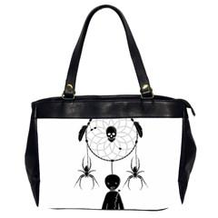 Voodoo Dream Catcher  Office Handbags (2 Sides)  by Valentinaart